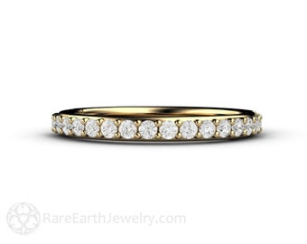 Diamond Wedding Band Diamond Diamond Anniversary Band 14K or 18K Gold or Platinum Conflict Free Diamond Ring