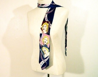 Vintage Marilyn Monroe 90s Tie, Designer Bernard of Hollywood, Movie  Film Collectible Unisex Statement Accessory Unique Silk Tie