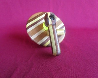 Multi Wood Pull String Handmade Spinning Top