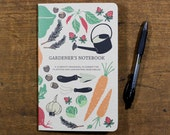 Gardener's Notebook, Harvest Journal, Gardener Gift, Vegetable Growing, Garden Planner, Planting Book, Gift for Her, Mother's Day, Farm