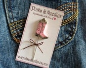 Cowboy Boot Pin Topper