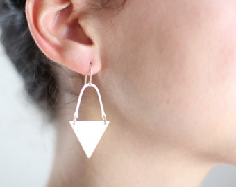 Geometric Triangle Arch Earrings - Gold or Silver
