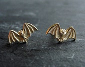 Halloween Jewelry, Bat Stud Earrings, Halloween Earrings, Bat Jewelry, Moody Jewelry, Spooky Halloween Jewelry, Tiny Earrings (E238)