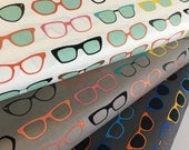 Vintage Glasses fabric, Hipster, Sunglasses, Spec-tacular Fabric by Kaufman- Fabric Bundle of 3, Choose The Cuts, Free Shipping Available