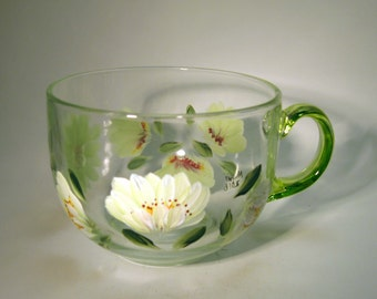 Hand Painted Shasta Daisy Tea Cup