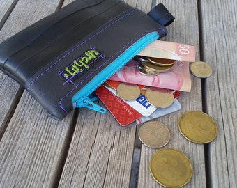 Eco friendly mini change purse - Recycled Bag - Bike Tube Wallet