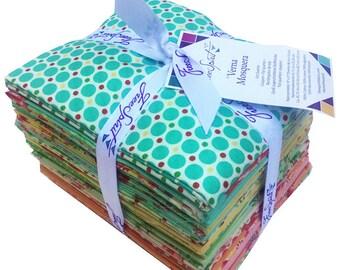 Verna Mosquera SUGAR BLOOM Fat Quarter Bundle 24 Precut Cotton Fabric Quilting FQs Free Spirit