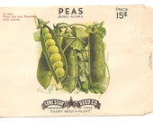 13 Old Vintage Vegetables Seed Packets Lone Star Seed Co. San Antonio,Texas BEANS, CORN , PEAS