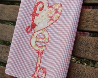 Valentine Kitchen Decor Towel Valentines Day Towel February Dish Towel Heart Hand Towel Pink White Gingham Check Valentine Gift for Her