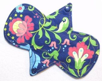 "7.25"" Liner Floral - Reusable Cloth Menstrual Pad (7LC)"