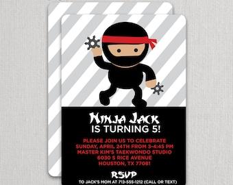 Ninja Birthday Invitation   Ninja Party Invite   Karate Invitation   Taekwondo Party   Ninja Invite