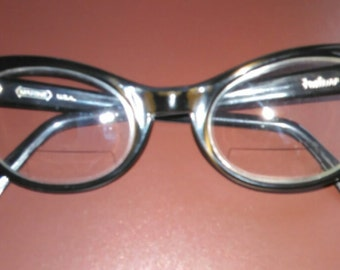 Vintage 50s 60s Women's Marine Cat Eye Eyeglasses FREE Shipping