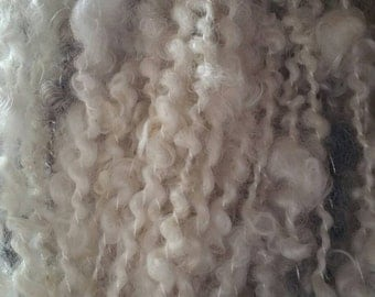 Handspun Yarn, lock yarn, curls, texture and interest