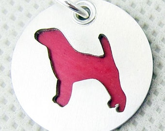 Beagle Sterling Silver Dog Charm Pendant Necklace Jewelry- Lots of Colors