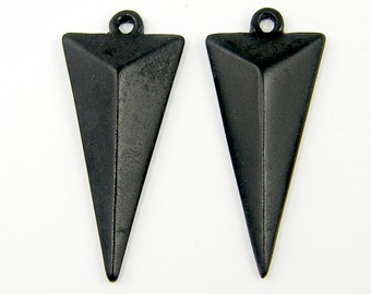 Black Triangle Earring Findings Geometric Dimensional Pendant Drop |BL8-7|2