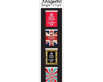 Keep Calm and Carry On Magnetic Bookmarks 4/Pkg (01400)