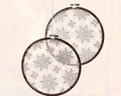"Vintage lace hoops - SET of 2 - Large size 8""- Doily circle wedding decor, Ceremony backdrop, Vintage wedding decoration"