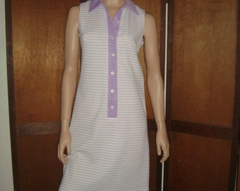 70's Pink & Purple Stripe Dress