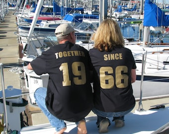 50th Anniversary TOGETHER SINCE 1967  Couples T-Shirts Set of 2 Shirts