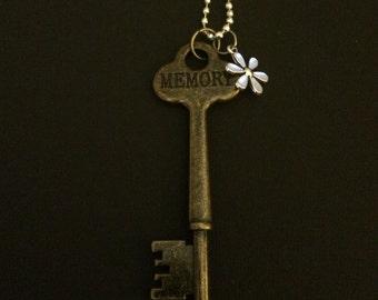 Key Pendant – Charm Necklace – Memory