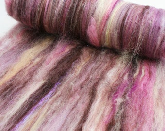 Spinning Fiber Art Batt, 2 oz, Merino, Bamboo, Sparkle, Cormo and More