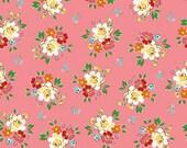 Pink Main Spring Blossoms Fabric BACKYARD ROSES by Riley Blake Designs