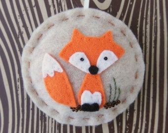 Woodland Fox - Felt Christmas Ornament