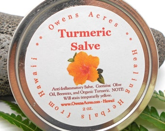 Turmeric Salve - Handmade Herbal Remedy, Reduces Swelling, Antiseptic, Inflammation, New Mom, Skin Salve, Herbal Salve,