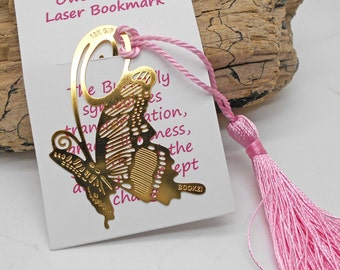 Bookmark - Lasercut Butterfly, Book Lover, Bookmark, School, Reading, Teacher Gift, Hostess Gift, Library, Butterfly