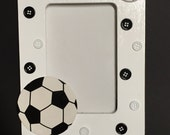 RESERVED - Picture Frame, Pictures, Photography, Button Picture, Picture, Picture Frames, Soccer, Team Photo, Sports, Sports Decor