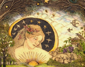 Earth Mother Goddess Mother Nature giclee reproduction print