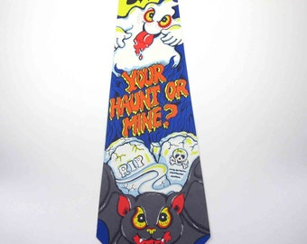 Vintage Halloween Die Cut Decoration with Ghost Bat Tombstones Bats by Russ Berrie & Co.
