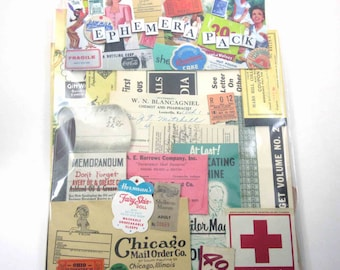 Vintage Mixed Ephemera Paper Pack of 100 Pieces for Altered Art