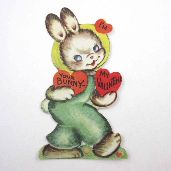 Valentines Day Vintage Bunny Rabbit Cards Page Two – Talking Valentine Cards
