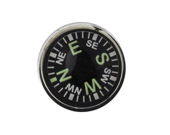 Plastic Compass Finding Flat Back 16mm Glow in the Dark (1) FI822