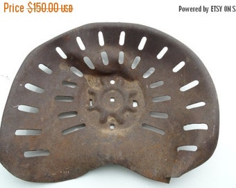 Sale Tractor Seat, Rustic, Primitive, Up Cycle, Wall Decor, Telephone Seat, Shabby Chic, Metal, Steele