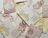 Assorted Handmade Gift Tags New Baby Floral Vintage Style
