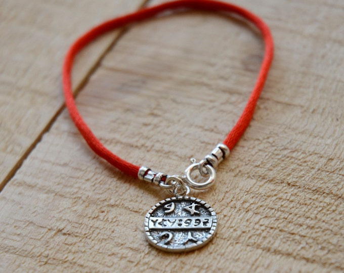 Health Amulet on Red String Bracelet for Men & Women