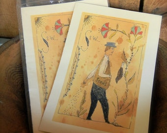 Sow - LIMITED EDITION Folk Art Notecards - from Notforgotten Farm™