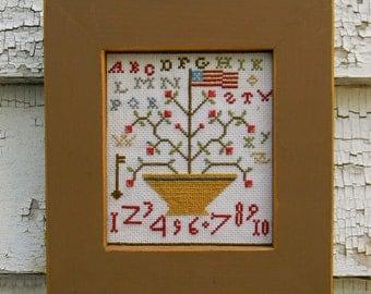Primrose Alphabet - cross stitch PAPER PATTERN - from Notforgotten Farm™