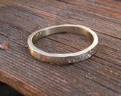 Reserved Listing For Marilynn, Sterling Silver Sparkle Wedding Band, 6mm