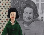 Presidential Doll Miniature Lady Bird Johnson American History Patriotic Art