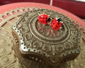 Vintage Ladybug Earrings
