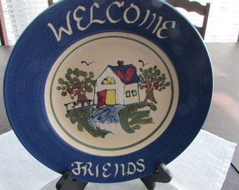 VINTAGE - Welcome Friends Plate