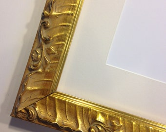 "Fancy Gold Picture Frame 9 x 12""  -  Ready to Ship"