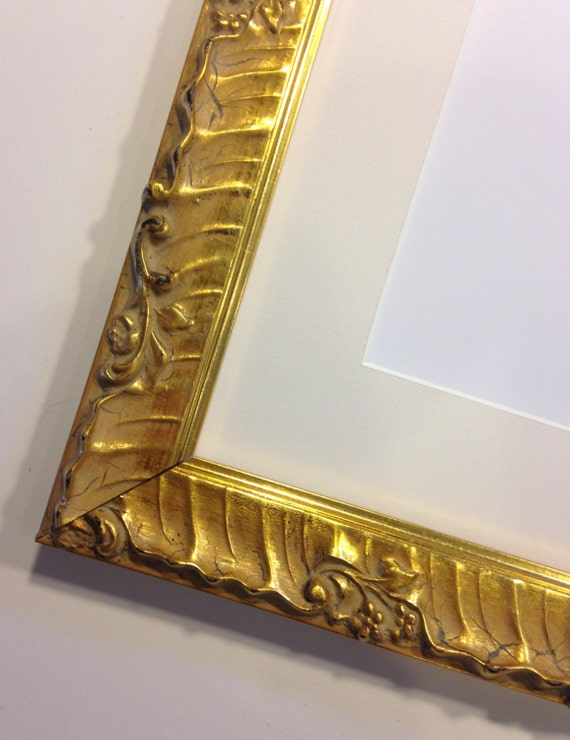 fancy gold picture frame 8 x 10 ready to ship. Black Bedroom Furniture Sets. Home Design Ideas