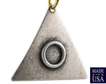 Silver Ox Curved Triangle Hoop Pendant with Setting 20mm (6) mtl502C