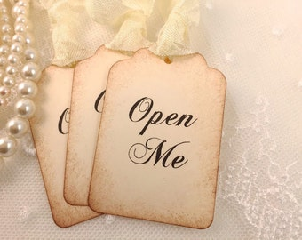 Open Me Tags Alice In Wonderland Party Favor Tags Set of 10