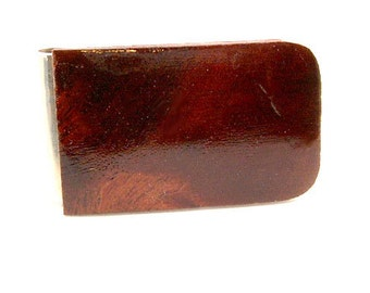 Handmade Wood Money Clip Australian Red Box Burl Wood
