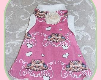 Pet Clothing Elegant Simplicity Slip Dress To Order in Spoonflower Fabric
